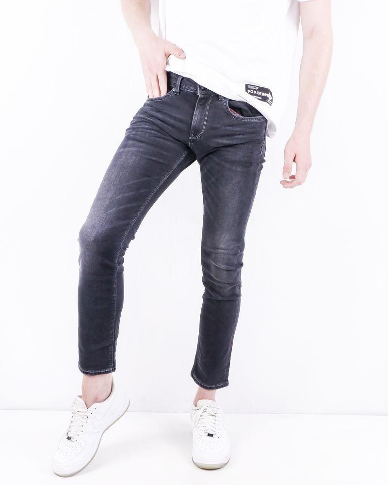 Jean skinny en coton noir délavé 3D