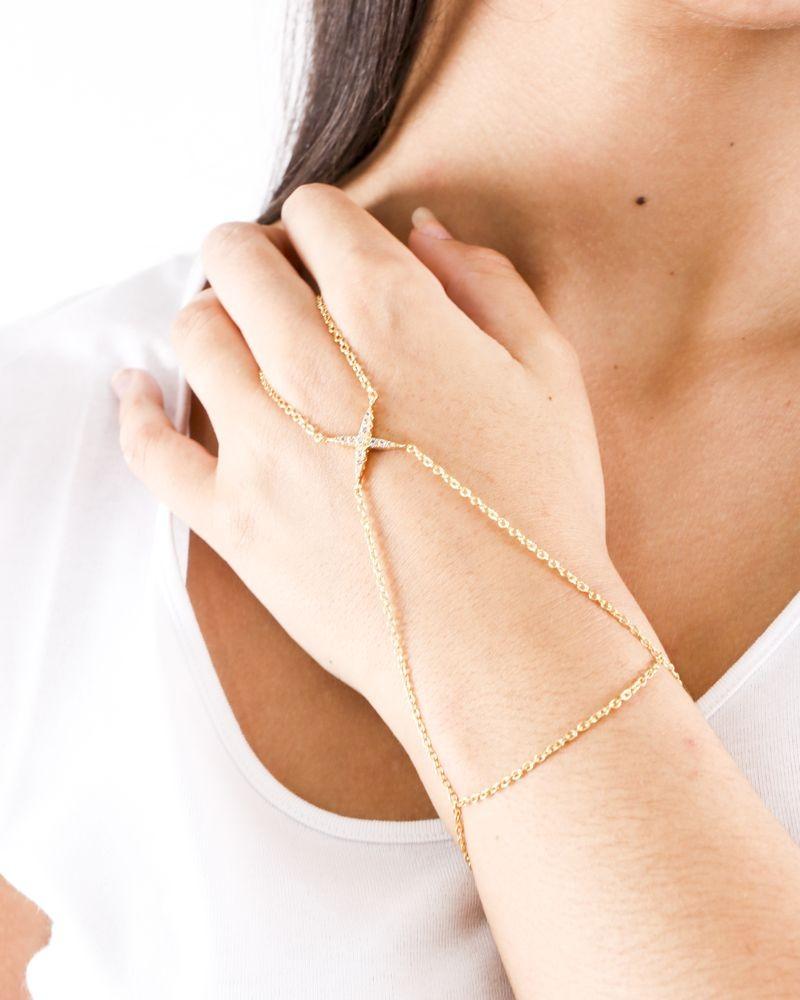 Bracelet à fines chaines dorée Elizabeth And James