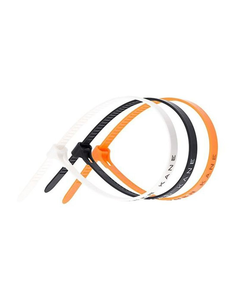 """Lot de 3 bracelet """"Cable Tie"""" Noir/Orange/Blanc Christopher Kane"""