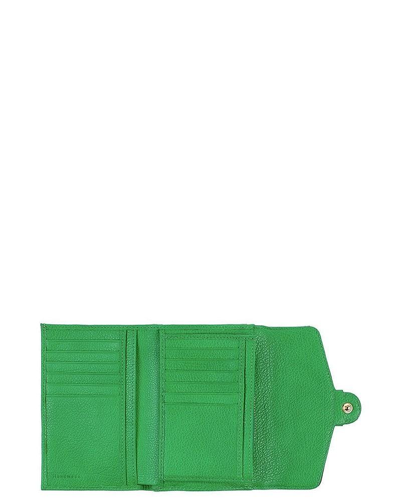 Portefeuilles en cuir grainé vert Coccinelle