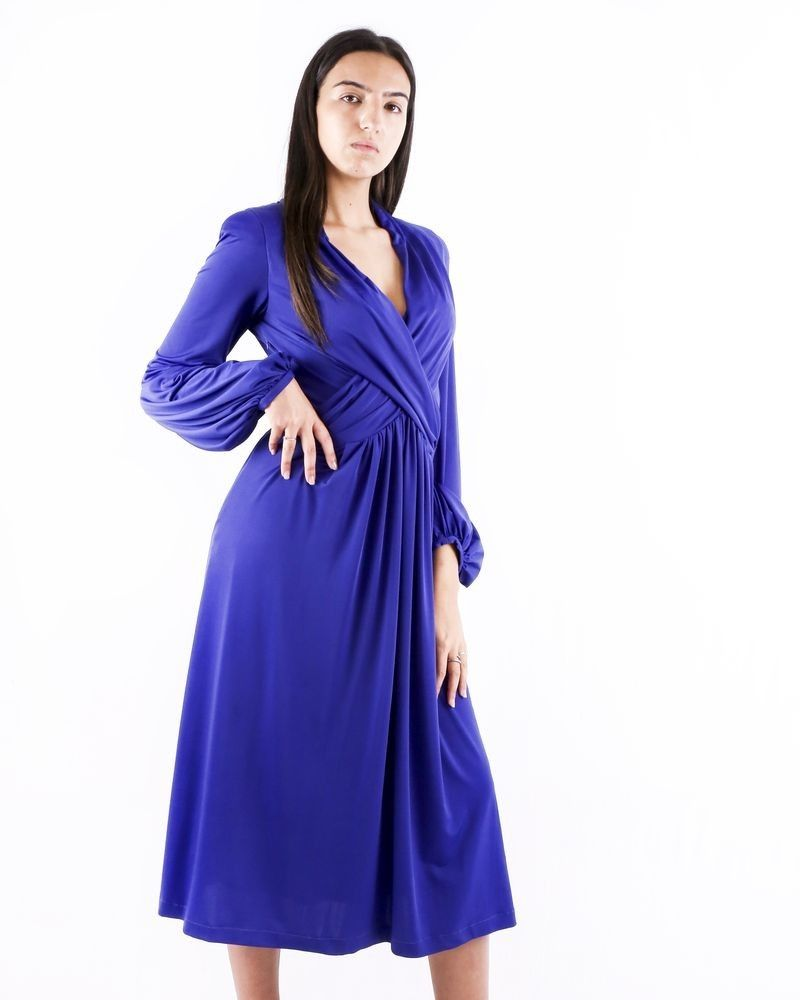 Robe drapée bleu Gaowei Xinzhan (GX)