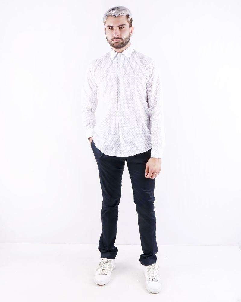 Chemise blanche à pois vert Chrom