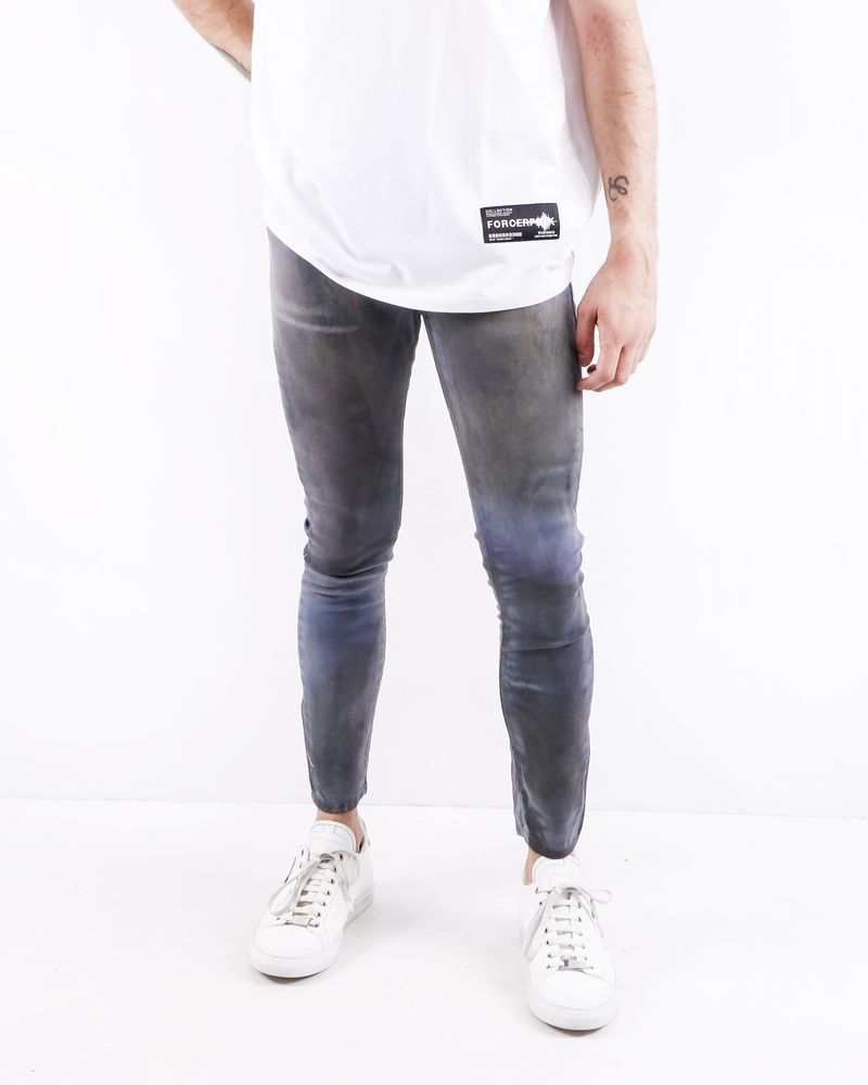 Jean skinny en coton gris effet tâché Each X Other