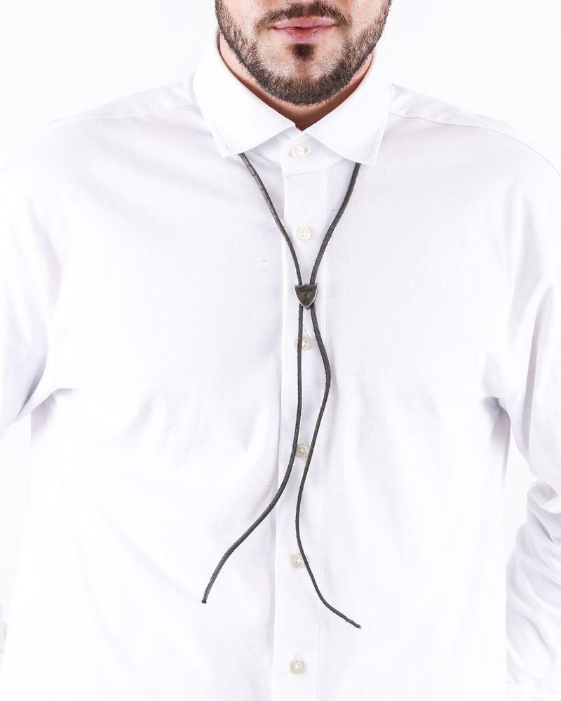 Collier en cuir noir à pendentif ajustable HTC