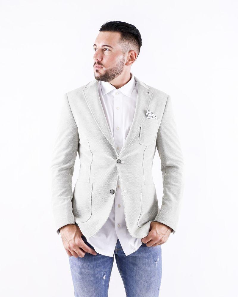 Veste en coton piqué beige Blue Industry