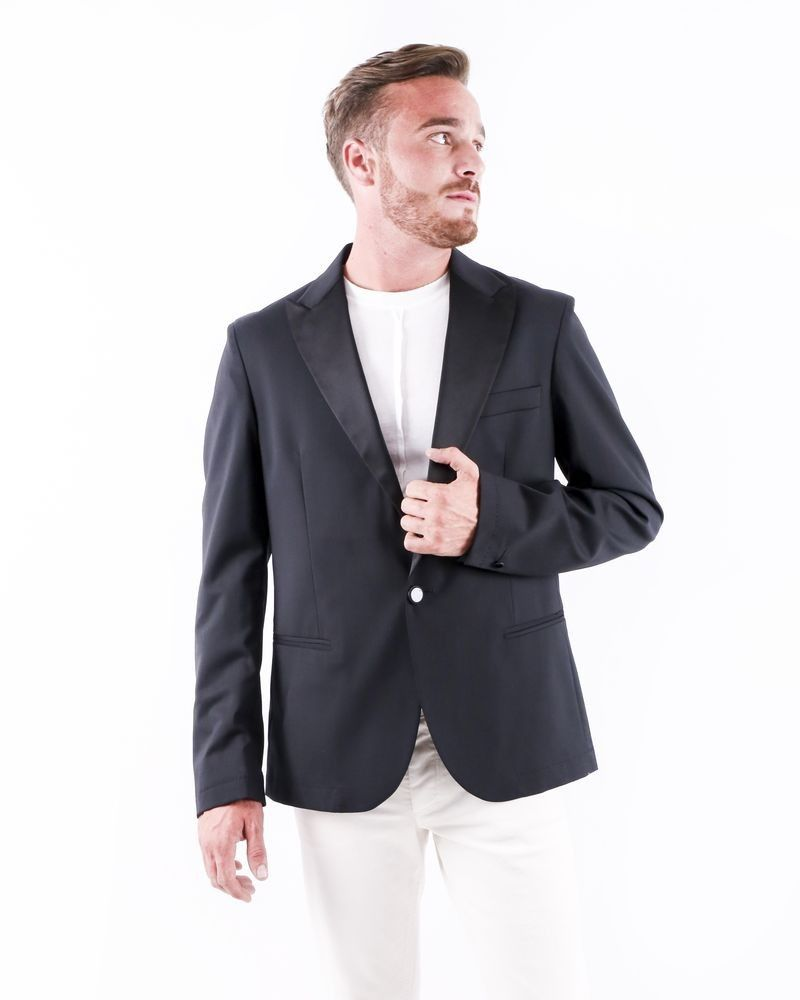 Veste de smocking noire à col satiné Low Brand