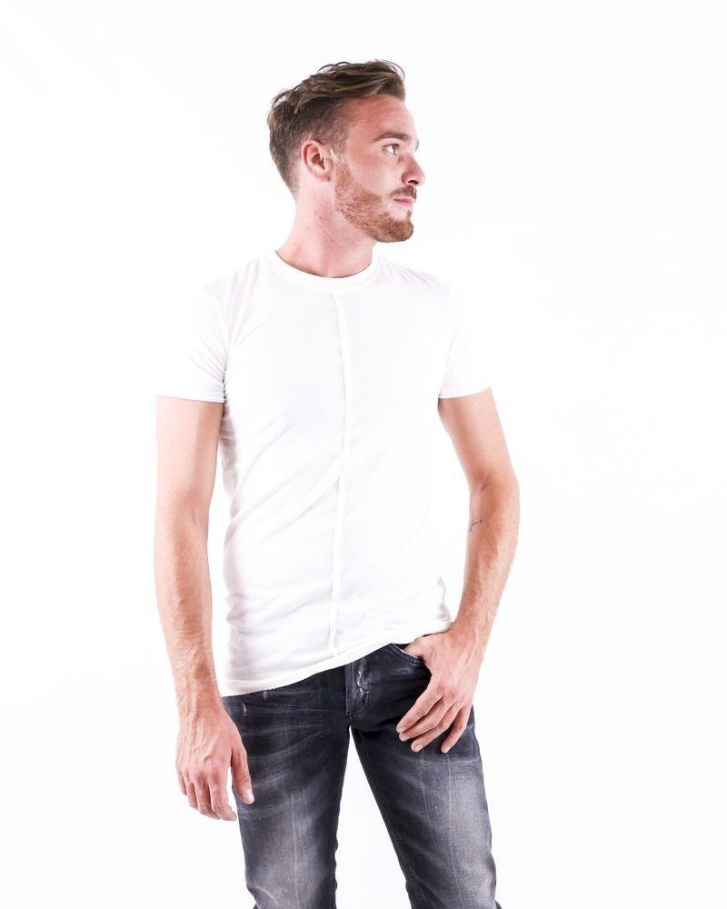 T shirt asymétrique blanc Damir Doma