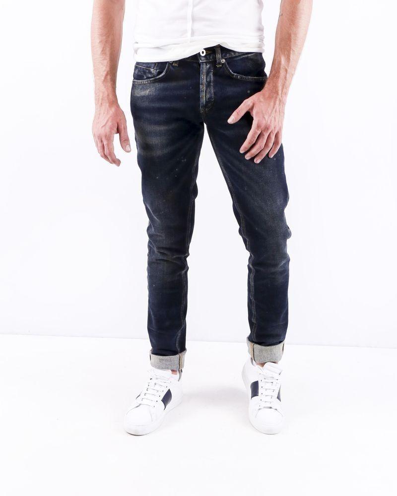 Jean skinny en coton bleu délavé Dondup