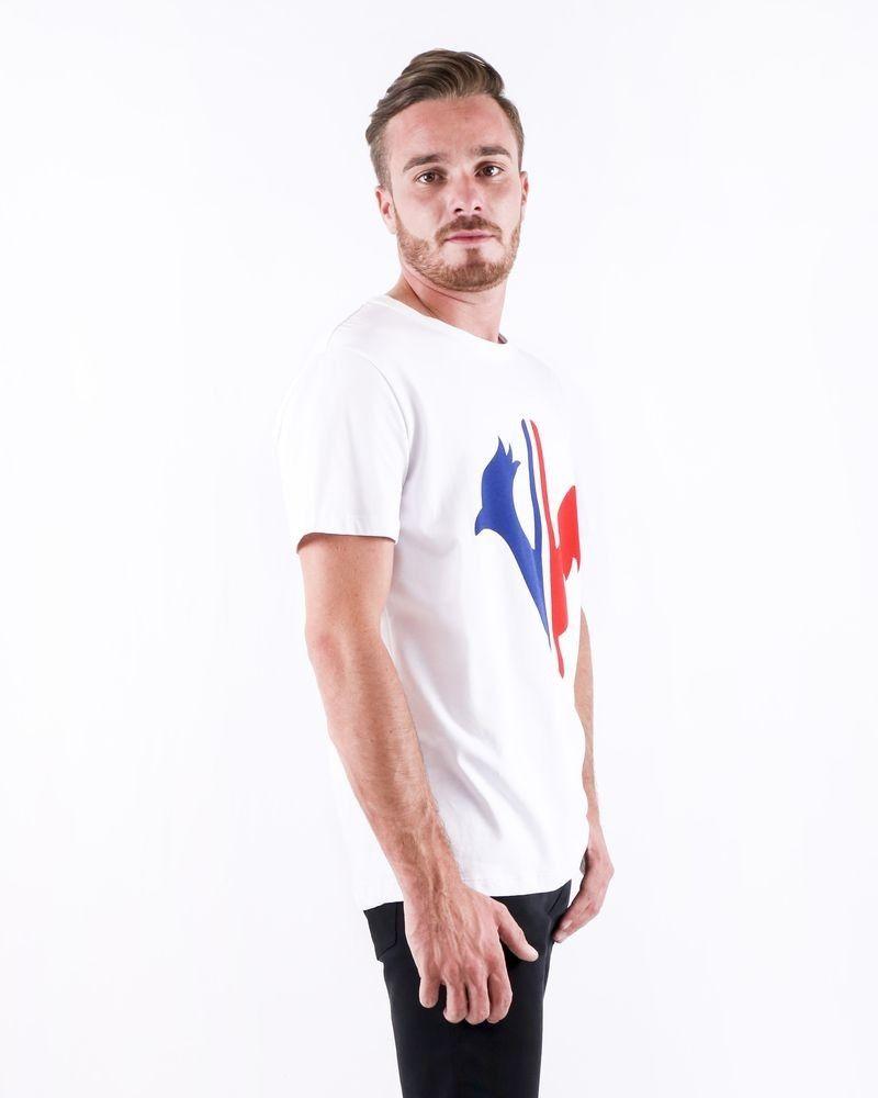T-Shirt blanc à flocage «Coq Français» Rossignol