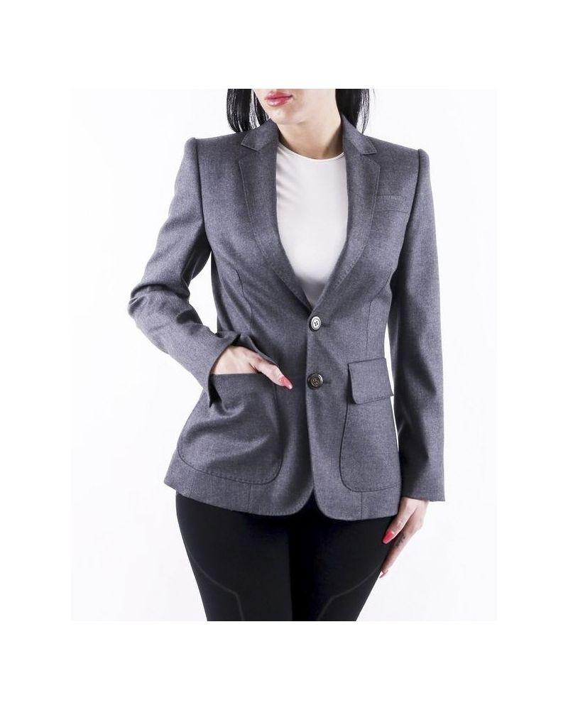 Veste de tailleur cintré en laine grise Dsquared2