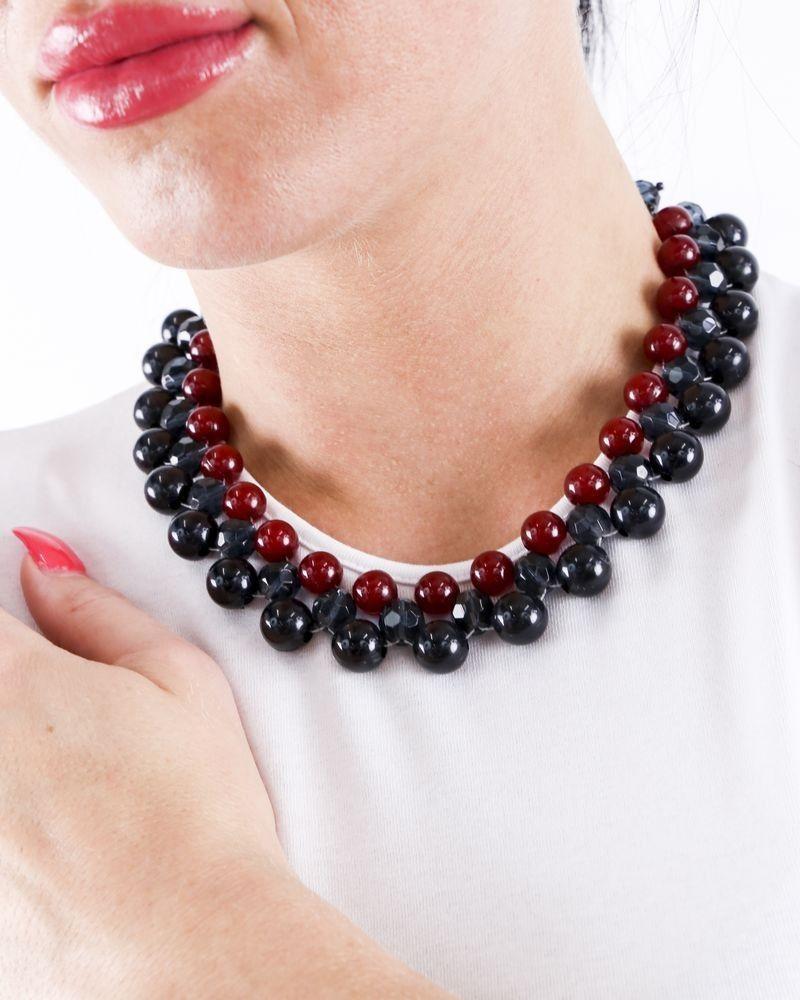 Collier ras le cou à perles tricolores Appartamento