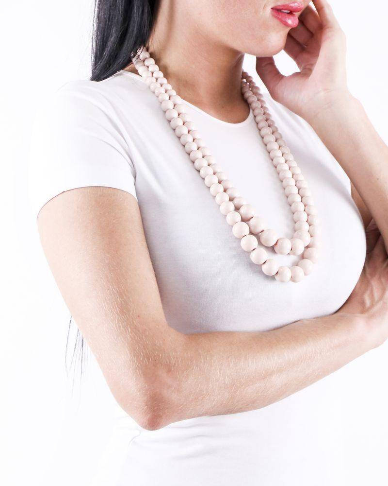 Double sautoir en perles rose Appartamento