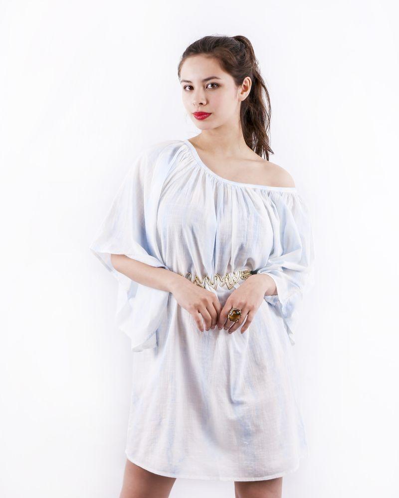 Robe chauve souris blanche Paradis Blanc