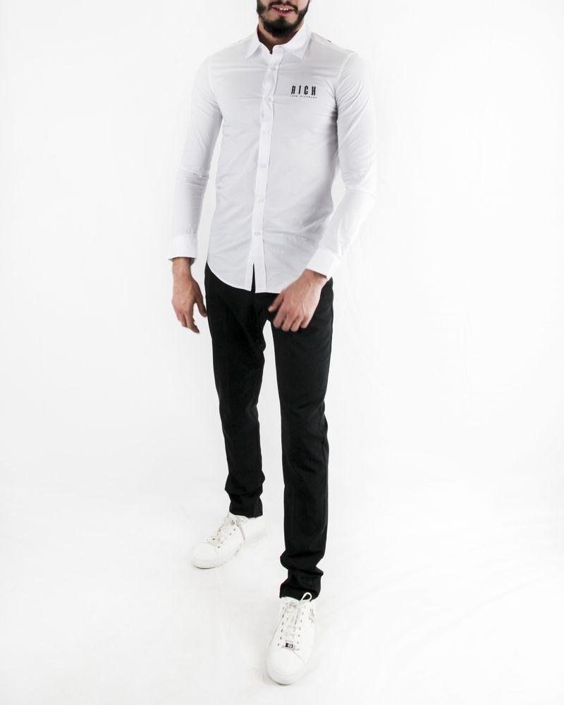 Chemise blanche à motif gothique John Richmond