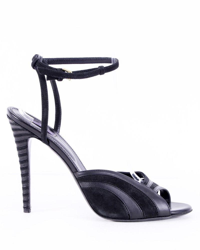 Sandales noires à talons Emanuel Ungaro