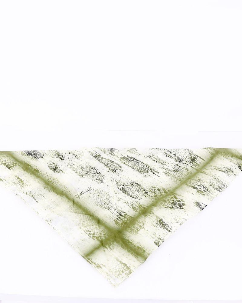 Echarpe en coton vert à motifs Roberto Cavalli