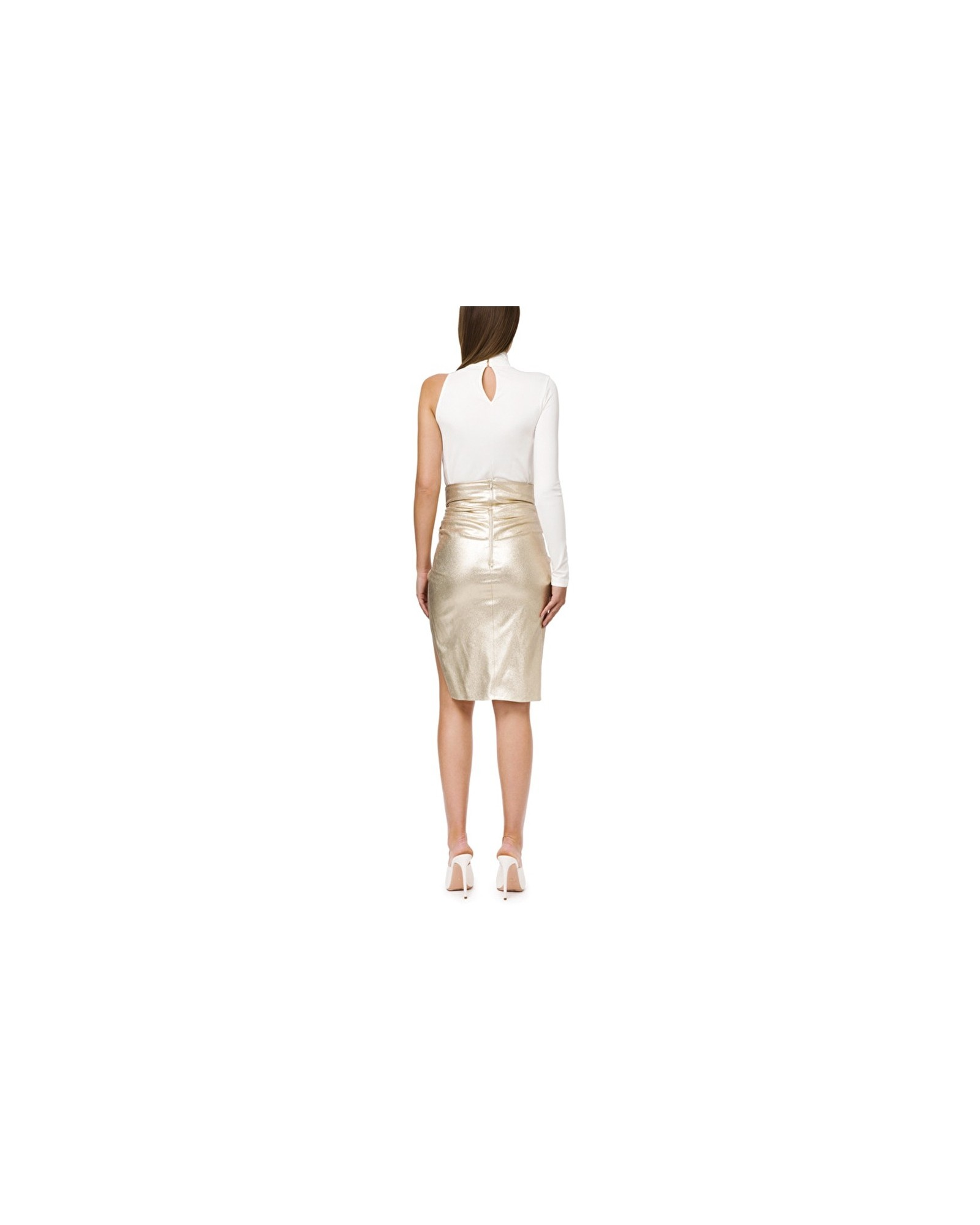Body en jersey blanc à strass Elisabetta Franchi