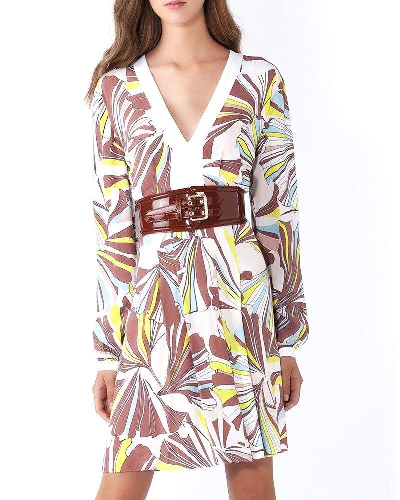 Robe en crêpe blanche à imprimé floral Nenette