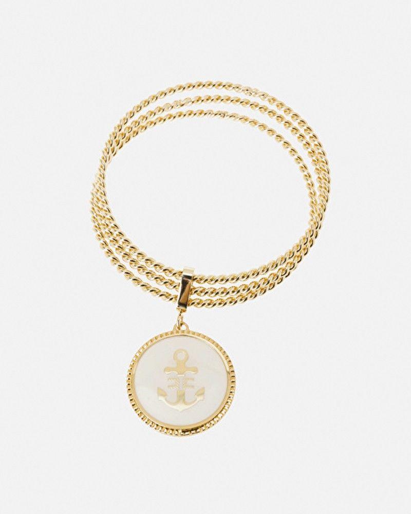 Lots de 3 bracelets rigides avec médaillon Elisabetta Franchi