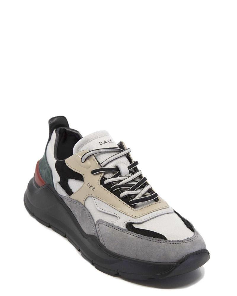 Sneakers noire et blanc en cuir D.A.T.E