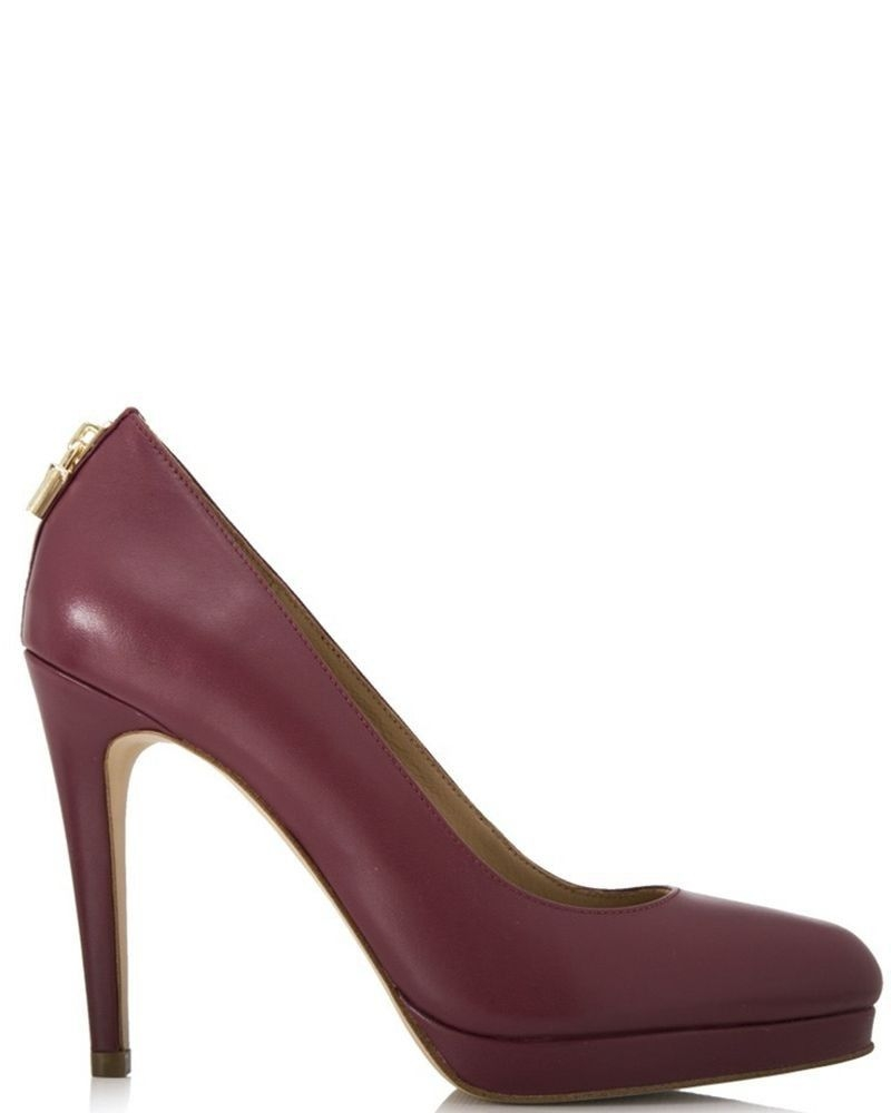 Escarpin en cuir bordeaux Michael Kors