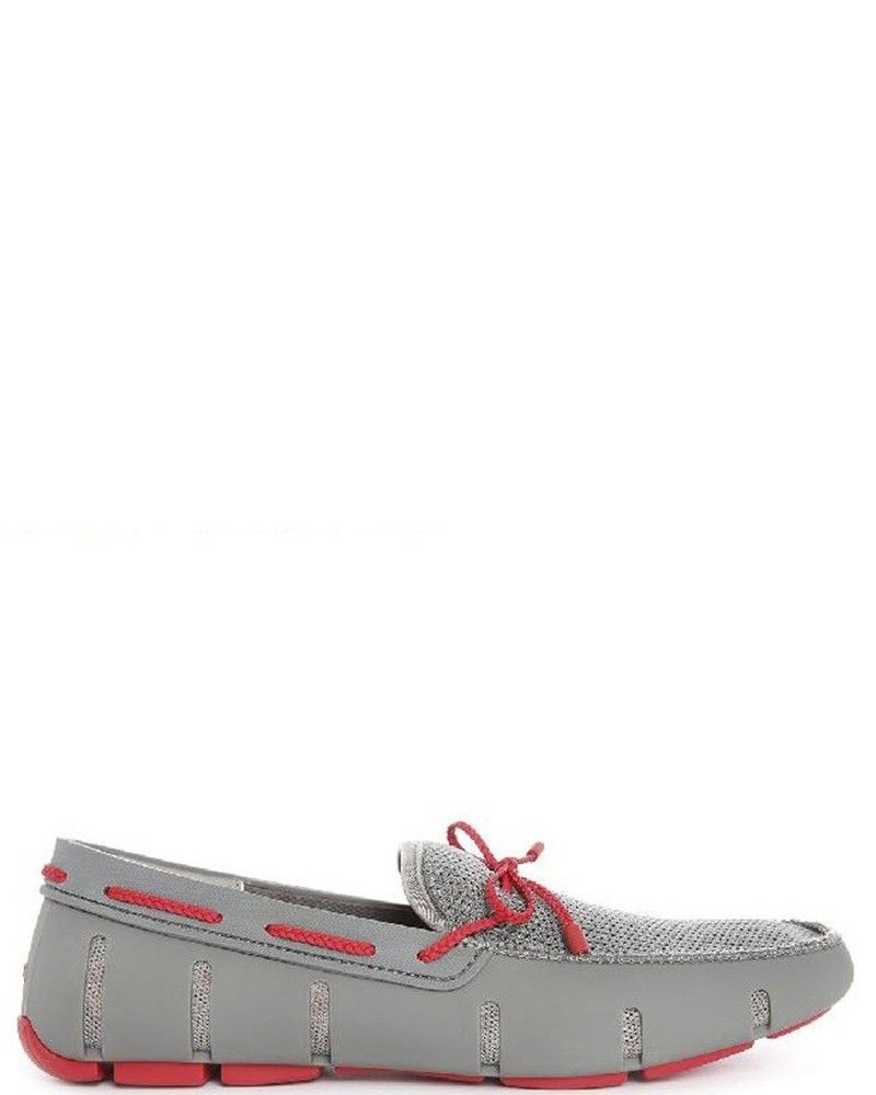 Mocassin gris et rouge Swims