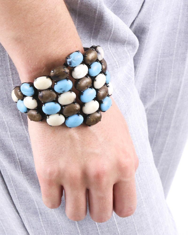 Bracelet rigide à pierres tricolores Appartamento