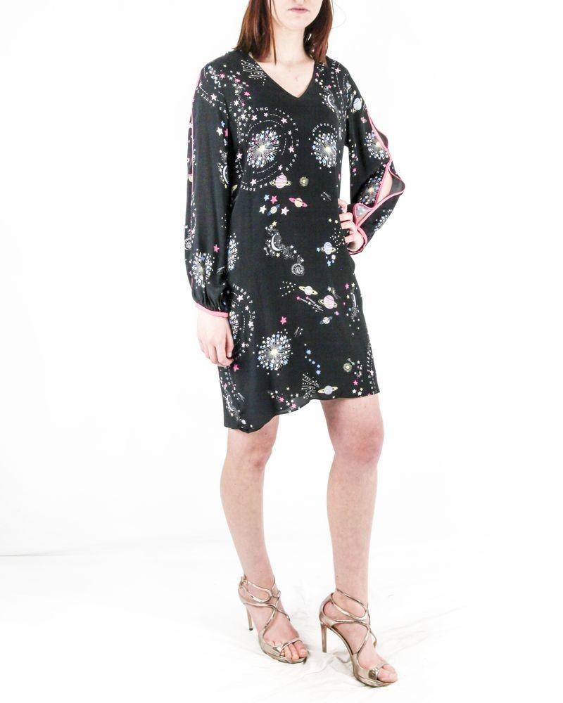 Robe noire à imprimé cosmiques Nenette