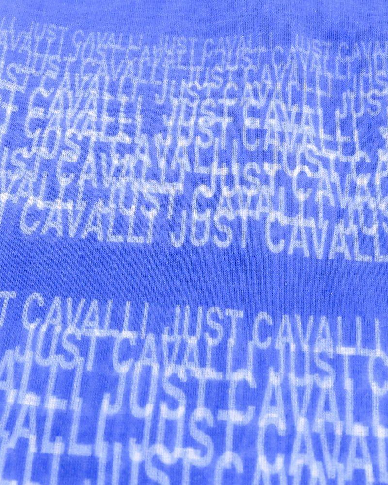 Foulard violet et blanc à sequins Roberto Cavalli