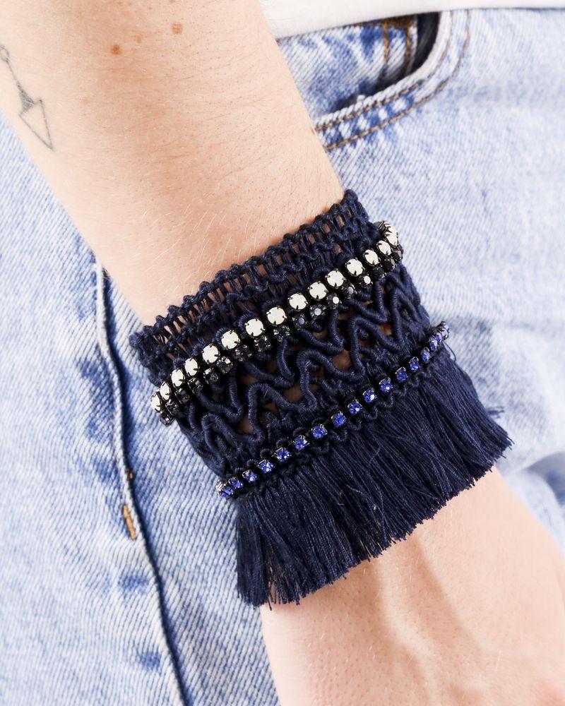 Bracelet bleu frangé à pierres Appartamento