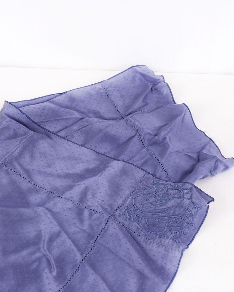 Foulard en soie bleu à logo brodé Vivienne Westwood