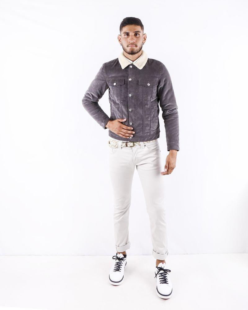 Veste en velours côtelé grise Edition M.R