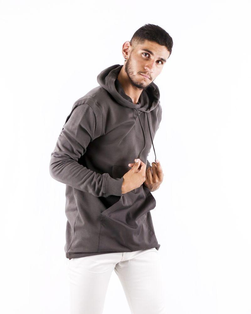 Sweat à capuche marron à poche kangourou Damir Doma