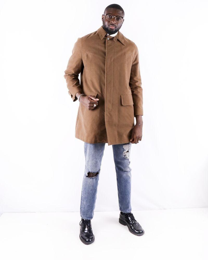Manteau en coton camel Edition M.R