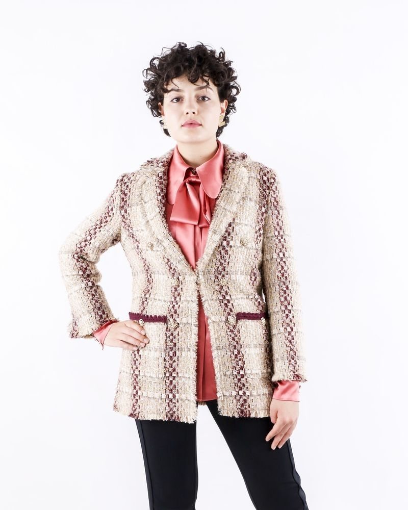Manteau en tweed bicolore Edward Achour