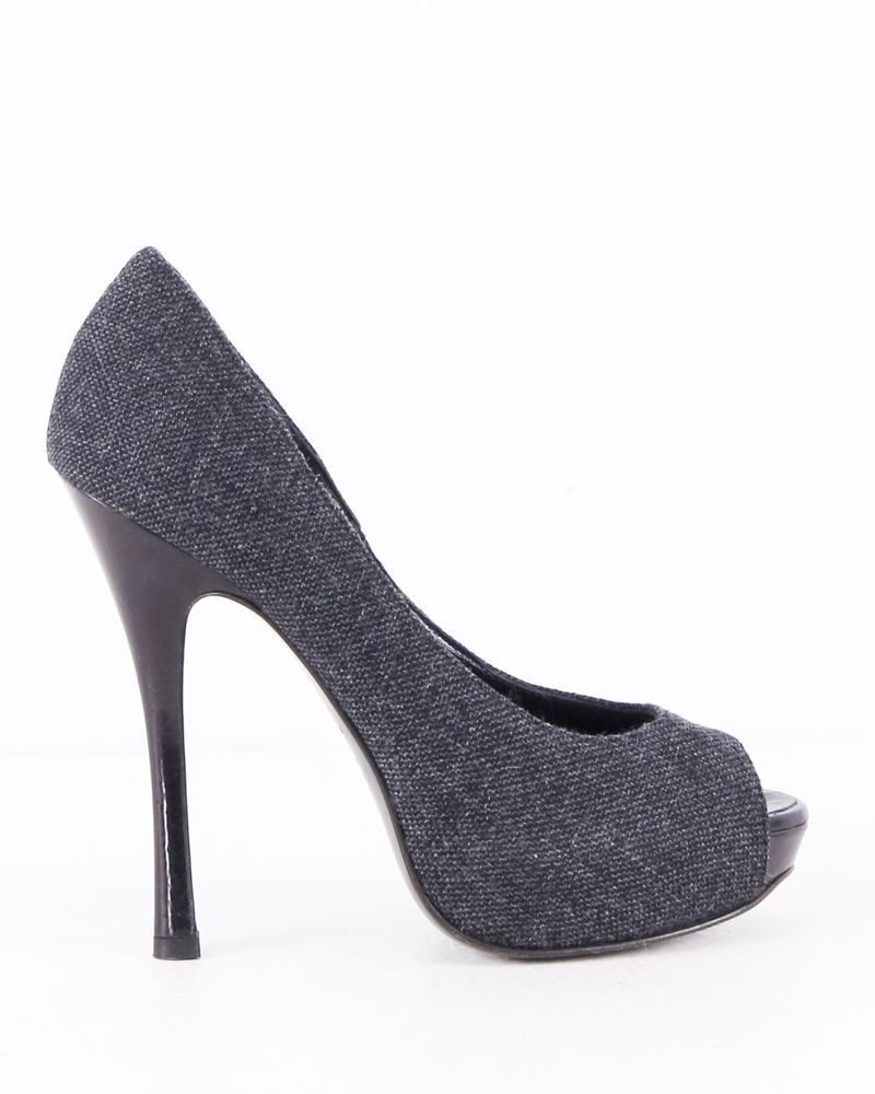Escarpin façon tweed gris Dsquared