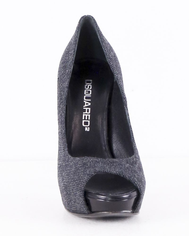 Escarpin façon tweed gris Dsquared