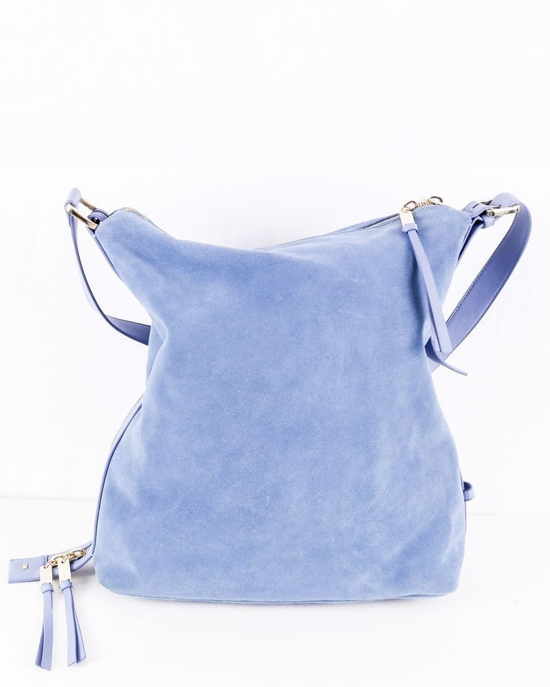 Sac besace en cuir bleu Elisabetta Franchi