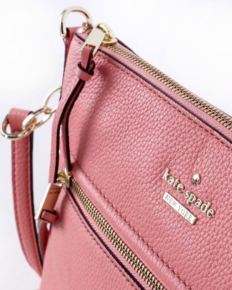 Sac à main bandoulière en cuir grainé rose Kate Spade