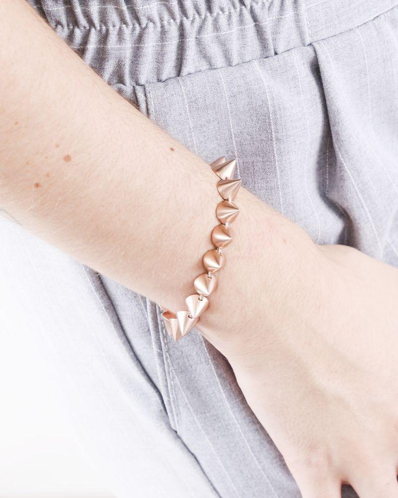Bracelet rose gold à pics Eddie Borgo