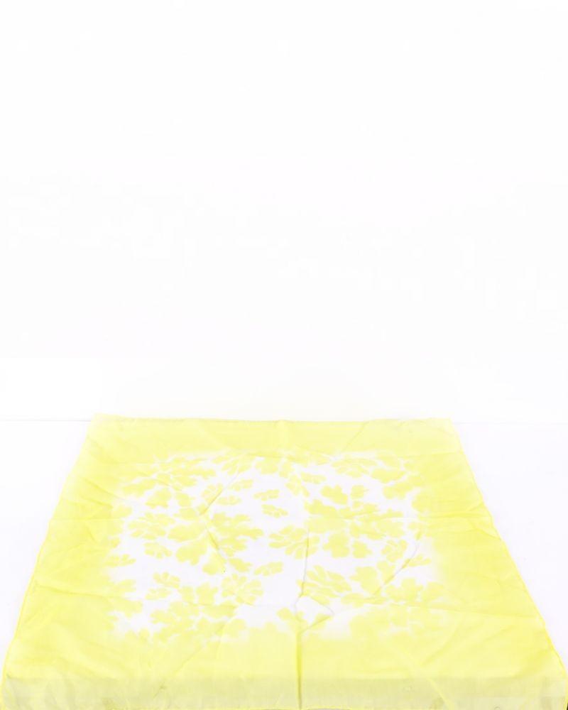 Carré de soie jaune à motifs Roberto Cavalli