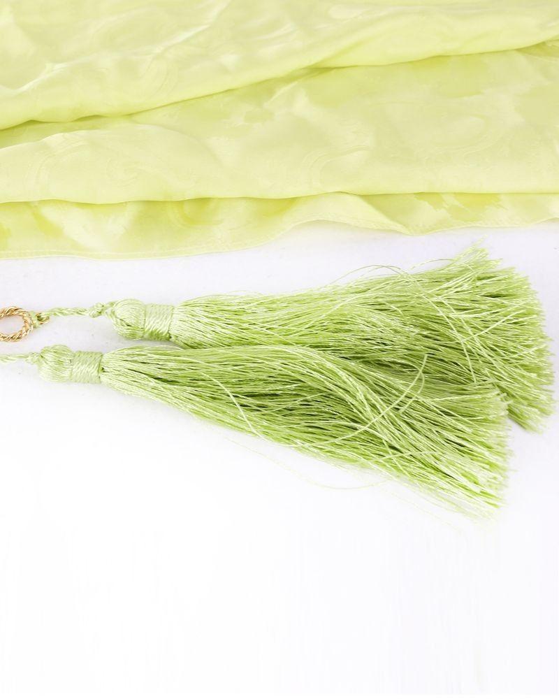 Foulard en soie vert Roberto Cavalli