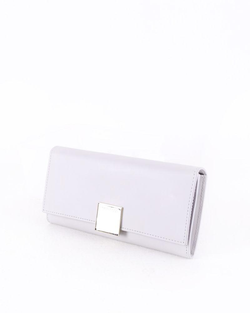 Porte monnaie en cuir gris Hugo Boss