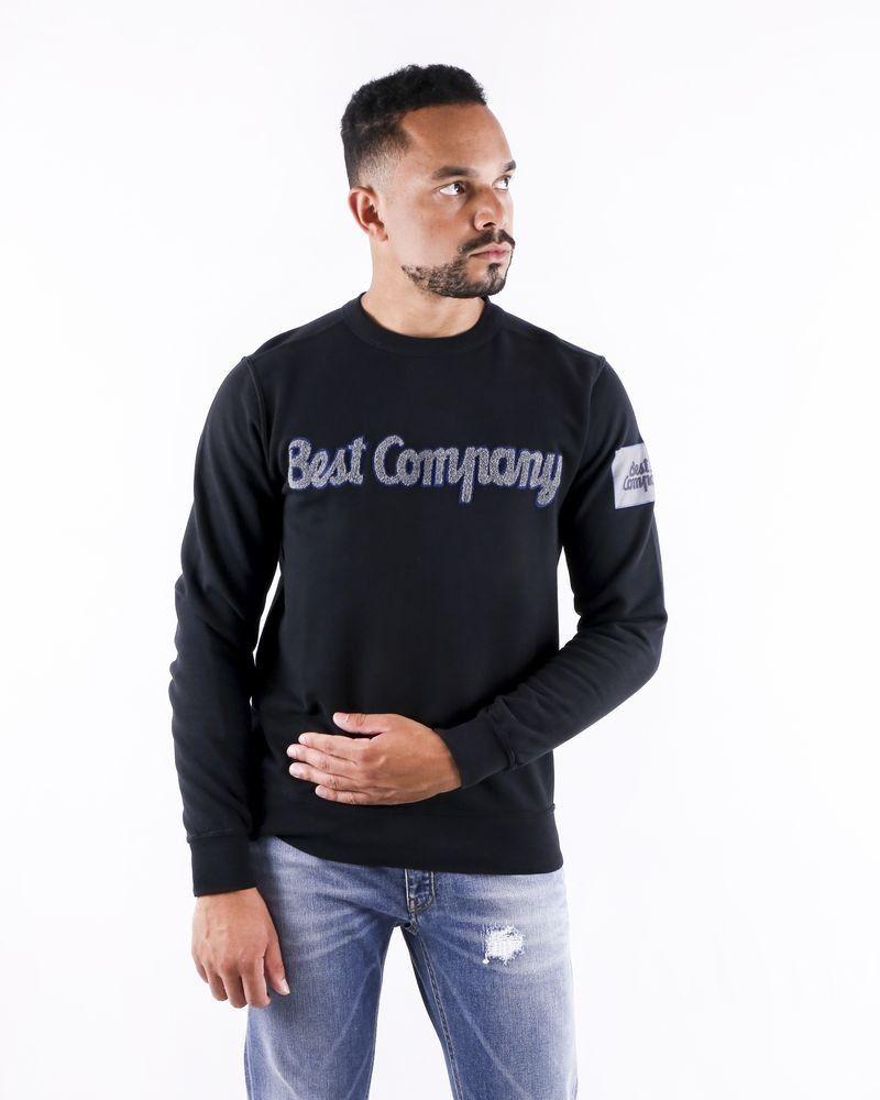 Sweat noir à logo bouclette Best Compagny