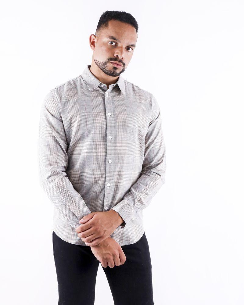 Chemise en coton gris à carreaux Editions M.R