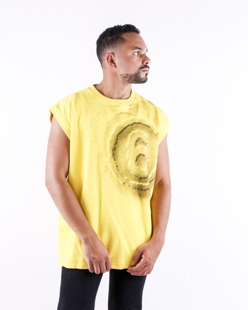 Sweat sans manches oversize jaune Maison Margiela