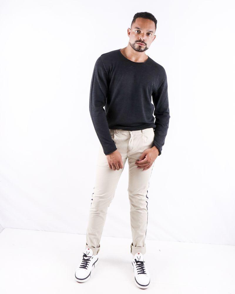 Pantalon beige à bandes latérales Blue Industry