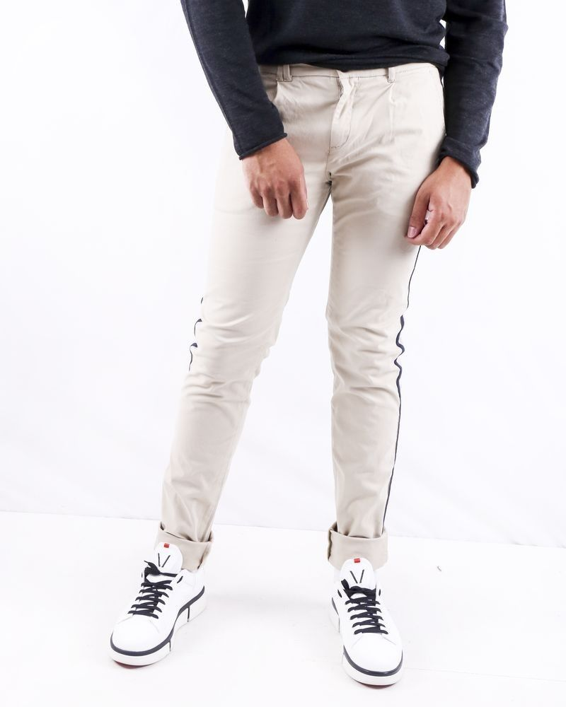 Chino beige à bandes latérales Blue Industry