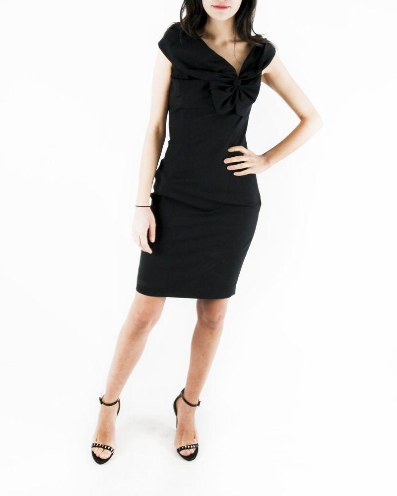 Robe élégante noire Dsquared Femme
