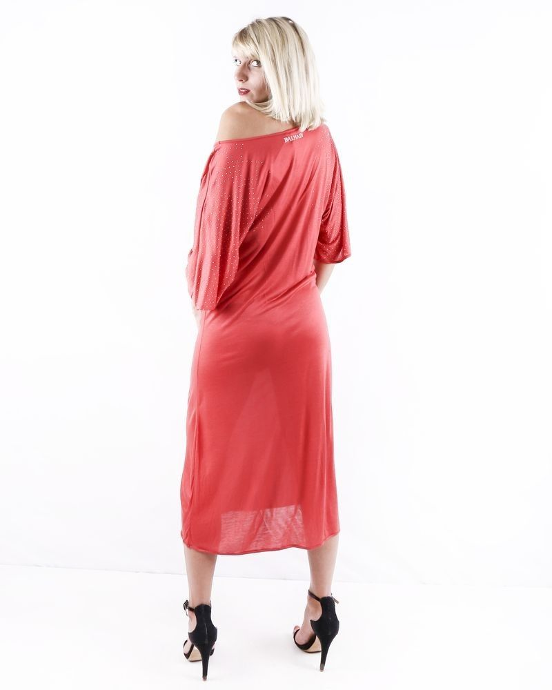 Robe en modal rouge Balmain